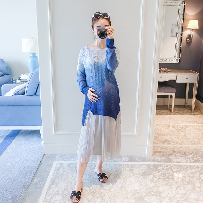 2018 summer pregnant maternity clothes women maternity dress casual knitted clothes for pregnant women
