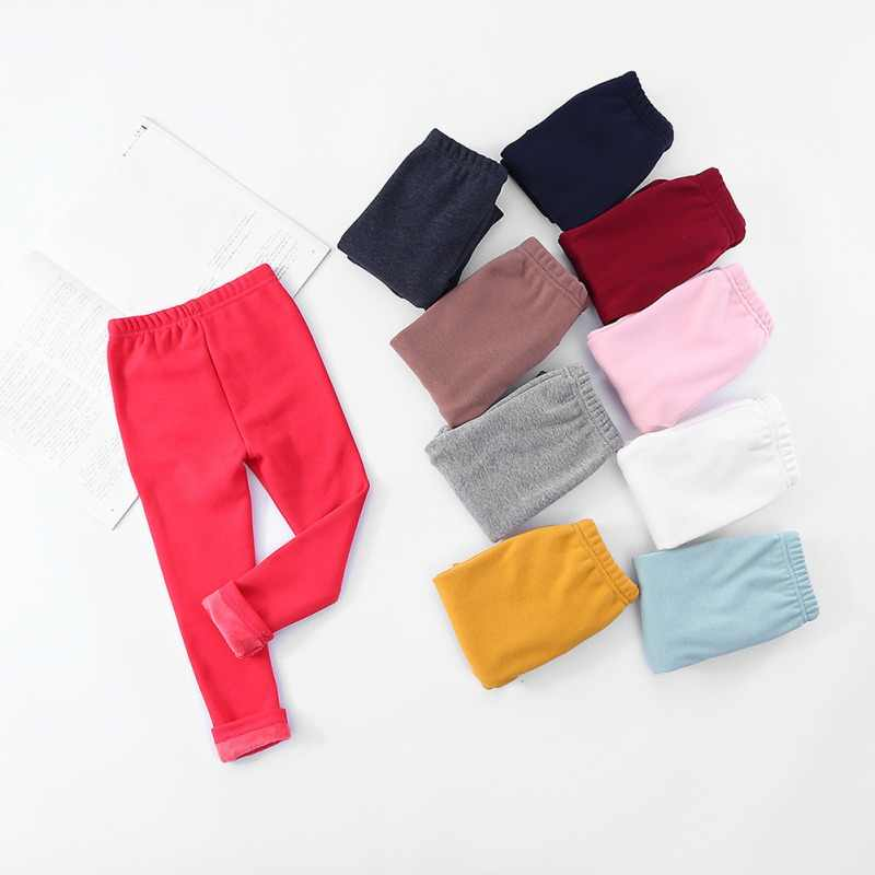 Baby Girls Leggings Warm Fleece Leggings For Girl Kids Pants Girls Clothing Fashion Thick Legging Winter Hot
