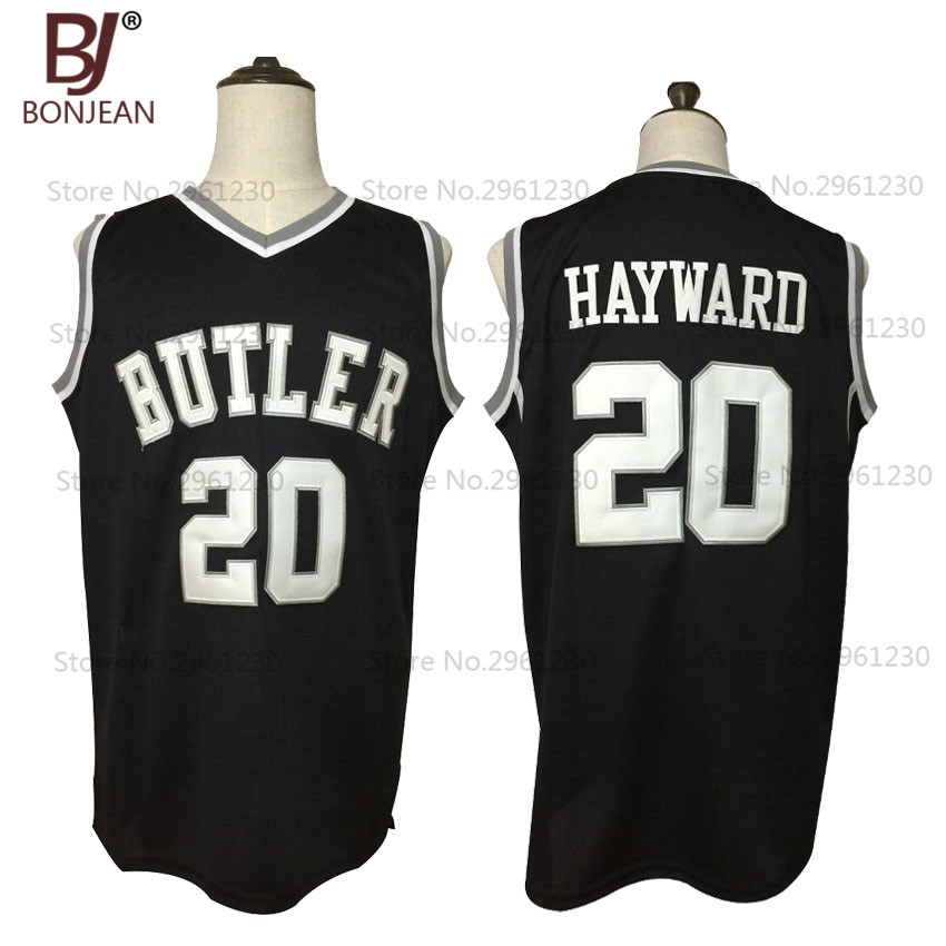 BONJEAN 2017 New Cheap Gordon Hayward 20 Butler Bulldogs College Throwback Basketball Jersey Black Stitched Retro Mens Shirts college basketball jersey wildcats 23 100% college basketball jerseys