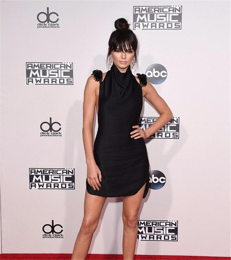 Kendall Jenner Short Dress: Sexy Dinner Dress AMA Awards Gowns Real Photo Black Short