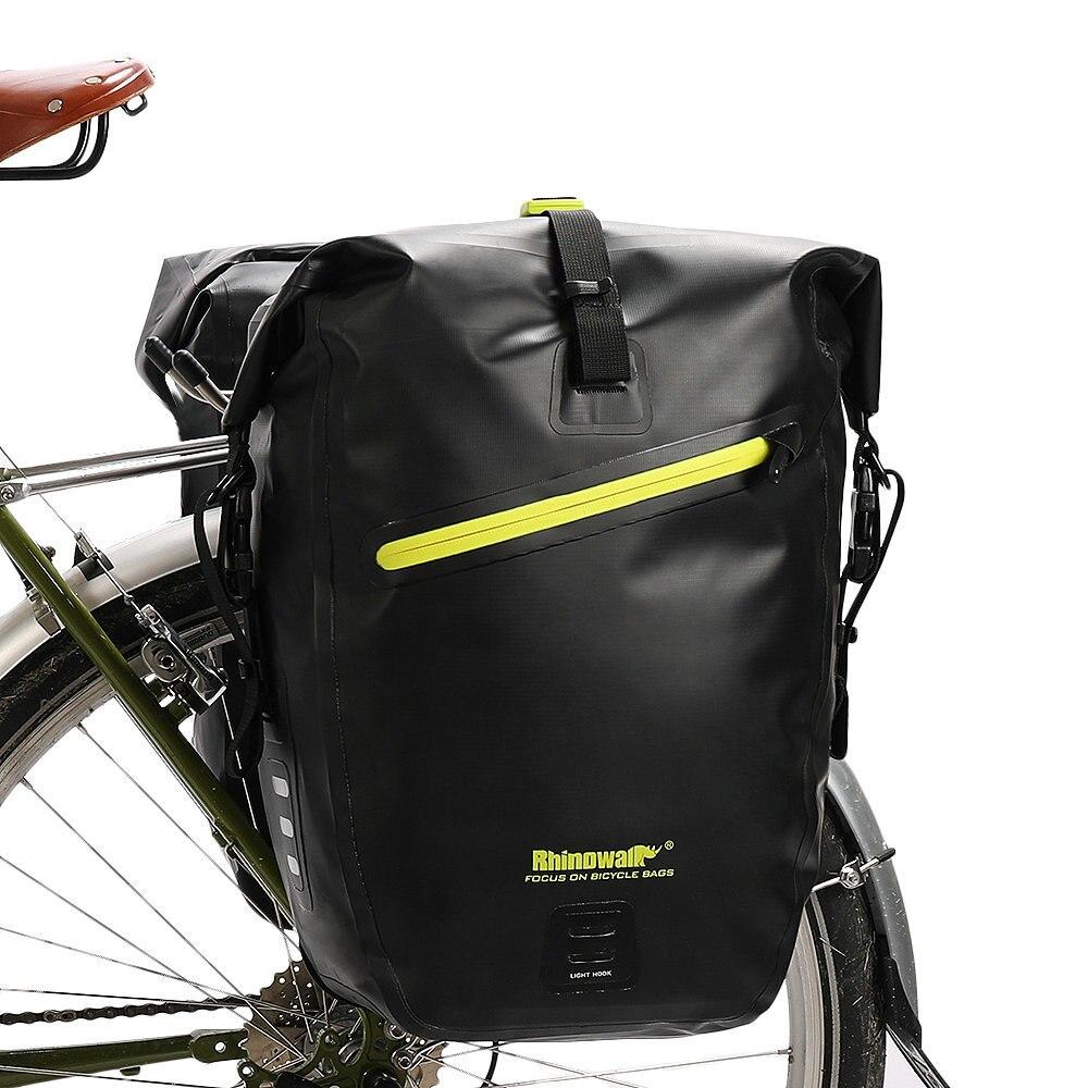 Rhinowalk 25 27L Bicycle Bag Full Waterproof MTB Road Bike Rear Luggage Rack Bag Upgrade Travel
