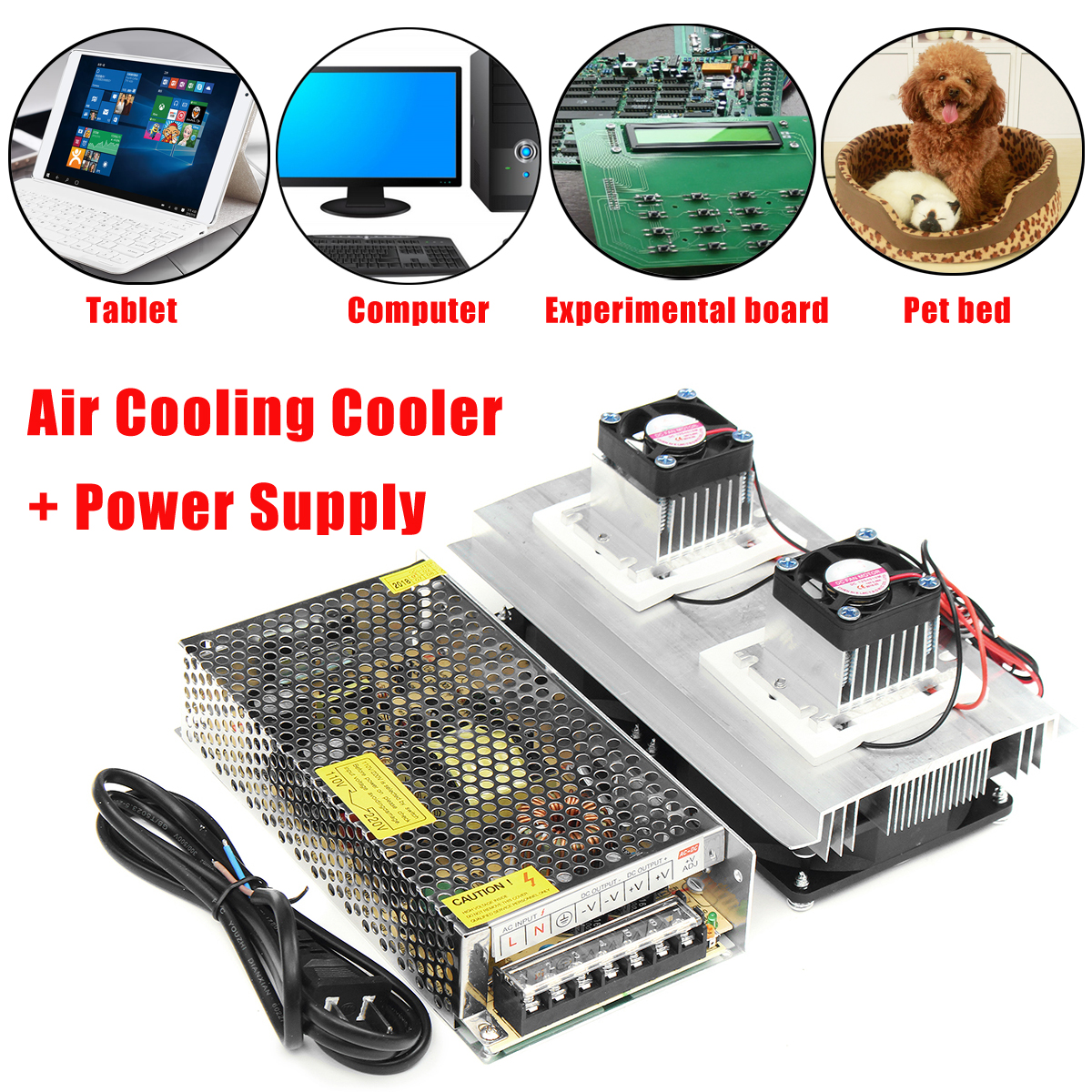 DC12V 120W 2 Core Air Cooling Cooler Refrigeration Thermoelectric Peltier + Power Supply Cooling Equipment Dissipate HeatDC12V 120W 2 Core Air Cooling Cooler Refrigeration Thermoelectric Peltier + Power Supply Cooling Equipment Dissipate Heat