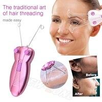Facial Hair Remover Electric Cotton Thread Body Facial Hair Removal Defeather Epilator Shaver Cotton Thread Epliator