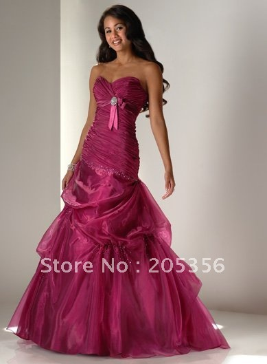 Free Shipping Ball Gown Lace Up Dark Rose Color Ruched Beading Ruffle Sweetheart Y Quinceanera