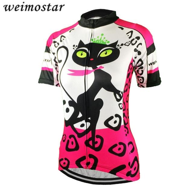 b2ba748c0 Women s Cycling Clothing Short Sleeve Cycling Jersey Outdoor Top Bike  Shirts Girls Wear Jersey MTB bicycle Shirts