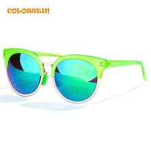 COLOSSEIN Sunglasses Women Brand Designer Cat eye Unbreakable Frame Polarized Mirror Lens sun glasses for Women oculos feminino