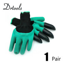 Best Match Garden Gloves with 4 ABS Plastic Claws for garden Digging Planting  1 pair Drop free shipping