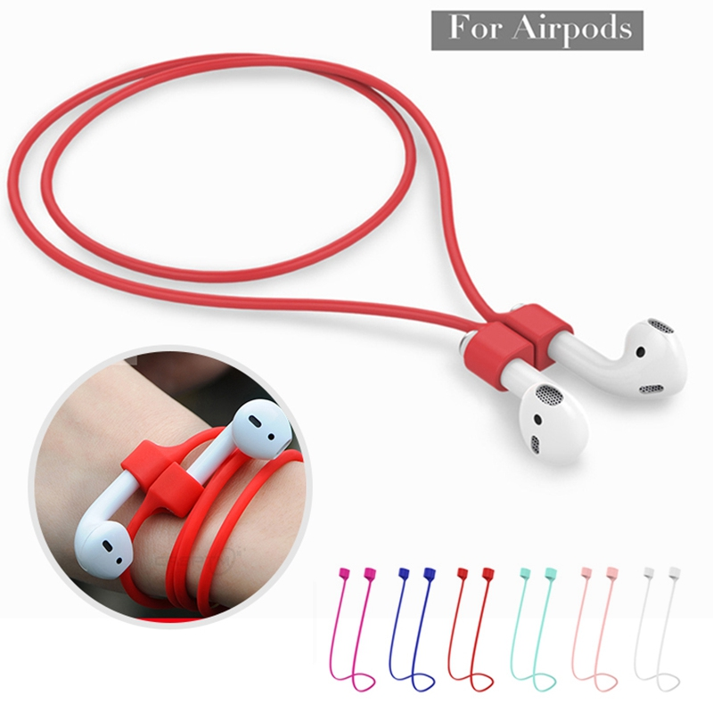Magnetic Earphone Strap For Apple AirPods Accessories Anti-Lost Headphone Magnetic String Rope Silicone Cable Cord For Airpods