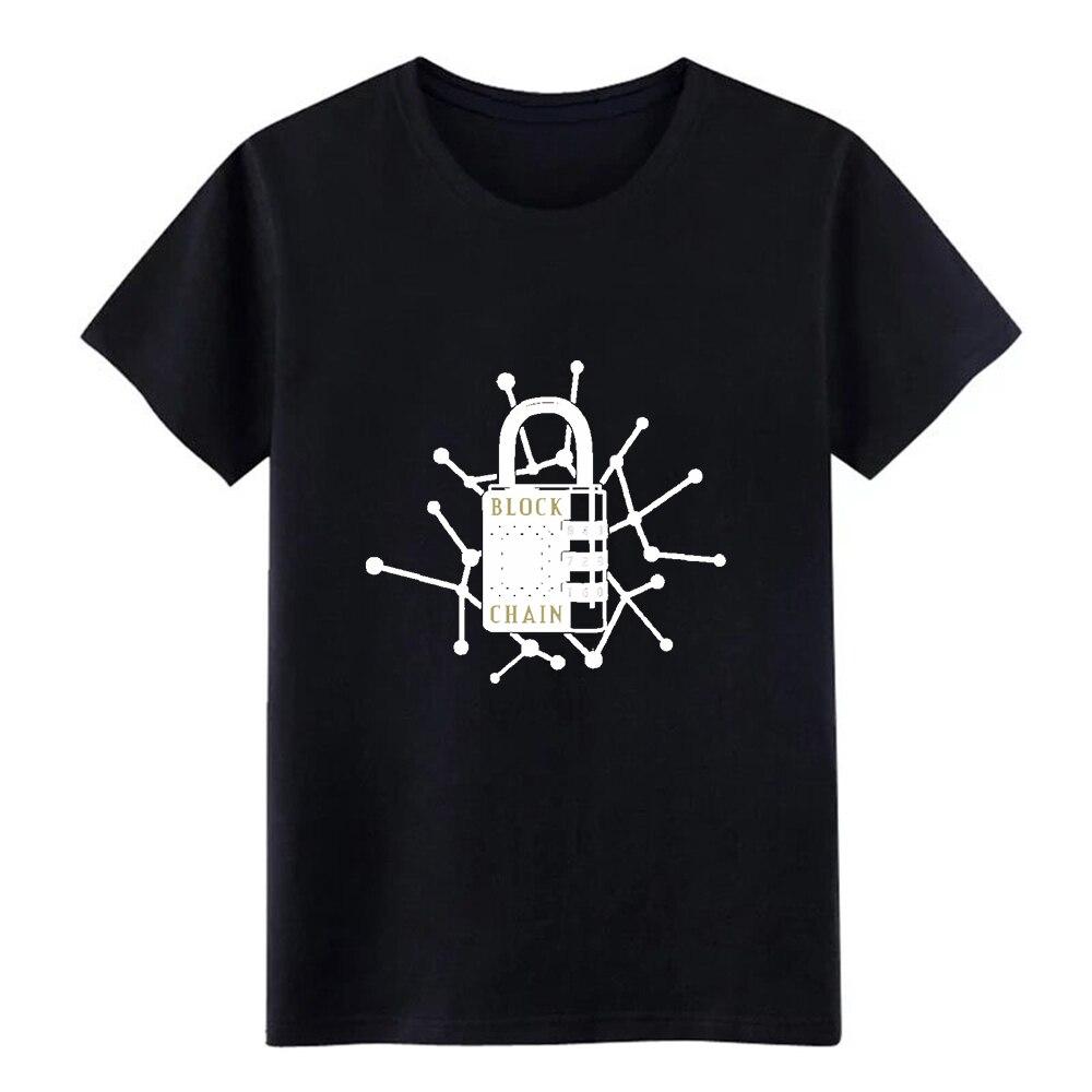 Bitcoin bloc chaîne t-shirt hommes personnalisé coton O cou base solide intéressant décontracté été slim t-shirt