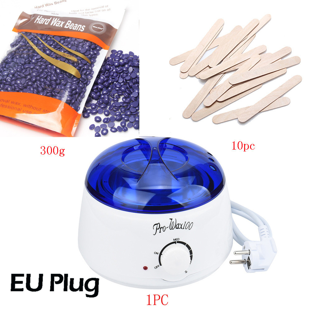 Hard Wax Beans 300g  Wiping Sticks Hot Wax Warmer Heater Pot Depilatory MINI SPA Epilator Set hair removal cream machine heater depilatory wax warmer hard wax beans hair removal black wax machine 250g natural beans for beauty spa epilation