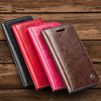 QIALINO Noble Flip Leather Case For IPhone 4S 4 4G With Card Holder
