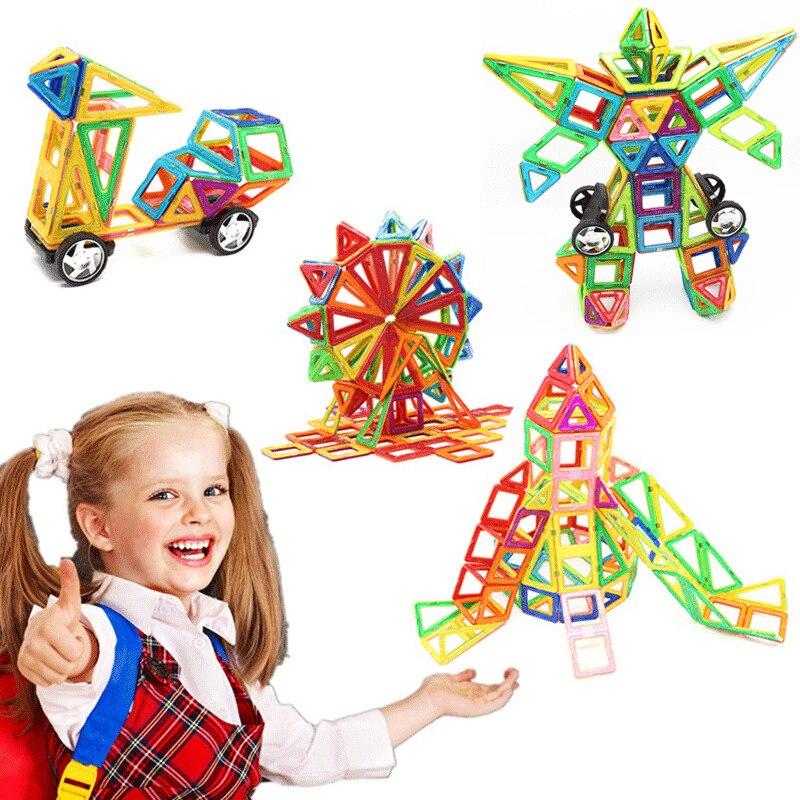 Mylitdear Standard Size Magnetic Building Blocks DIY Magnetic Designer Model Construction Set Educational Toys For Kids Boy Gift