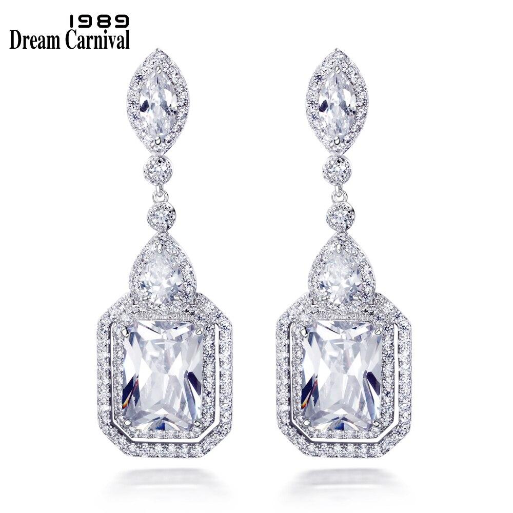DreamCarnival 1989 Gorgeous Fashion wedding Party Bright Cubic Zirconia Luxury Earrings for women High quality earrings SE11936 недорго, оригинальная цена