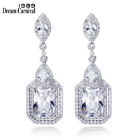 DreamCarnival 1989 Gorgeous Fashion wedding Party Bright Cubic Zirconia Luxury Earrings for women High quality earrings SE11936