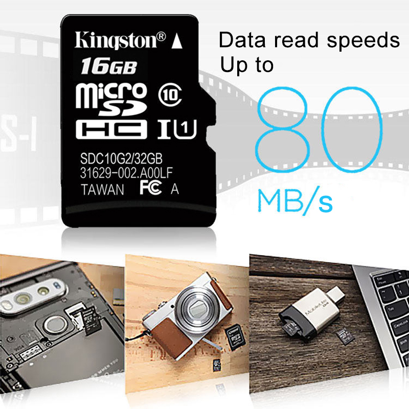 Image 4 - KingstonTechnology Micro SD Card Class 10 16GB MicroSDHC TF / Micro SD Card Black Memory Card Data read speeds up to 80MB/s-in Micro SD Cards from Computer & Office