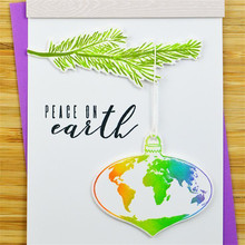 Naifumodo Earth Leaf Branch Metal Cutting Dies and Clear Stamps Scrapbooking Die Cuts For Making Card Embossing Craft Fustelle