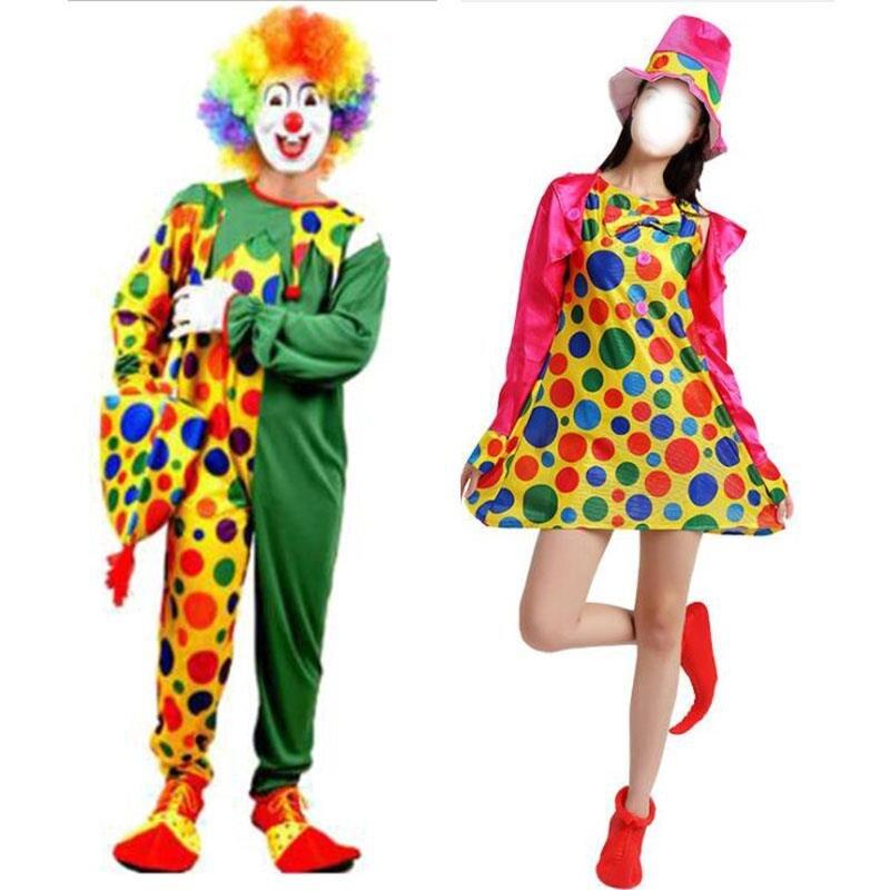 divertido traje de payaso para adultos de disfraces de halloween cosplay espectculo de magia ropa