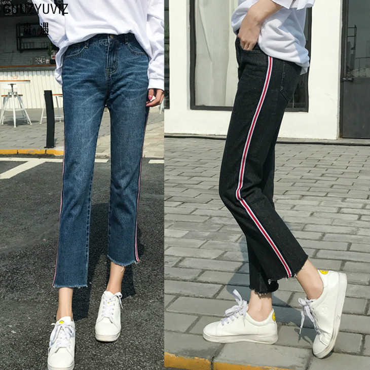 Guuzyuviz Plus Size High Wiast Jeans Woman Vintage Autumn Winter Cotton Denim Washed Loose Patch Work Harem Pants Jeans