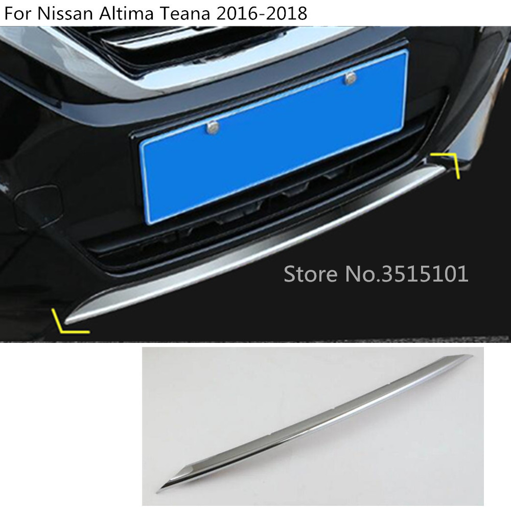 Car cover bumper ABS Chrome trim Front racing bar bottom Grid Grill Grille frame edge For Nissan Altima Teana 2016 2017 2018 стоимость