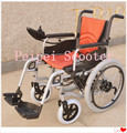 22 pulgadas de 10 pulgadas plegable silla de ruedas eléctrica con motor del cepillo con freno electromagnético (PPSE1150-AA)