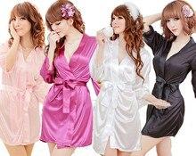 Hot Sale Plus Size Sexy Temptation Babydoll Rayon Bathrobe Sexy Erotic Pajamas Lace Lingerie Big Size