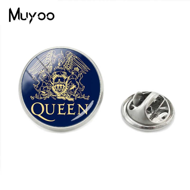 แฟชั่น Pop และ Rock Queen Band สแตนเลส Pins Hand Craft Queen โลโก้ Lapel Pins เครื่องประดับของขวัญสำหรับแฟนๆ