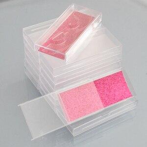 Image 5 - 400pcs Wholesale Acrylic False Eyelashes Packaging Box custom logo Fake 3d Mink lashes Box Faux Cils transparent plastic case