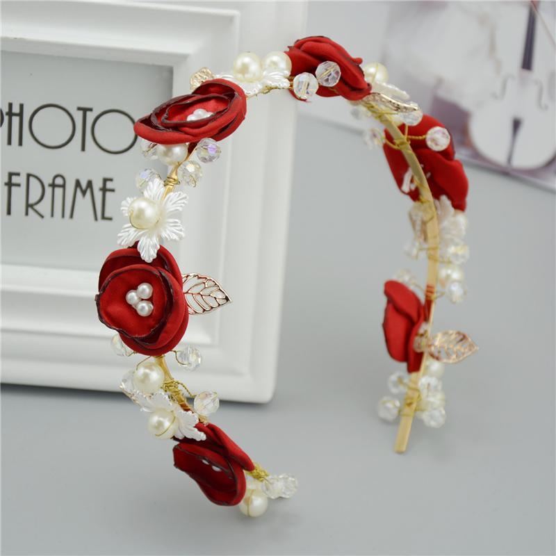 tienda online venda de la flor flores de tela para diademas accesorios para el cabello estilo del verano del pelo de la boda tocados wigo