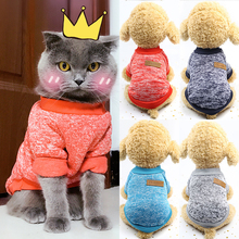 Classic Pet Cat Pullover Sweater Warm Clothes for Cats Kedi Hoodie Cat Costume For Pets