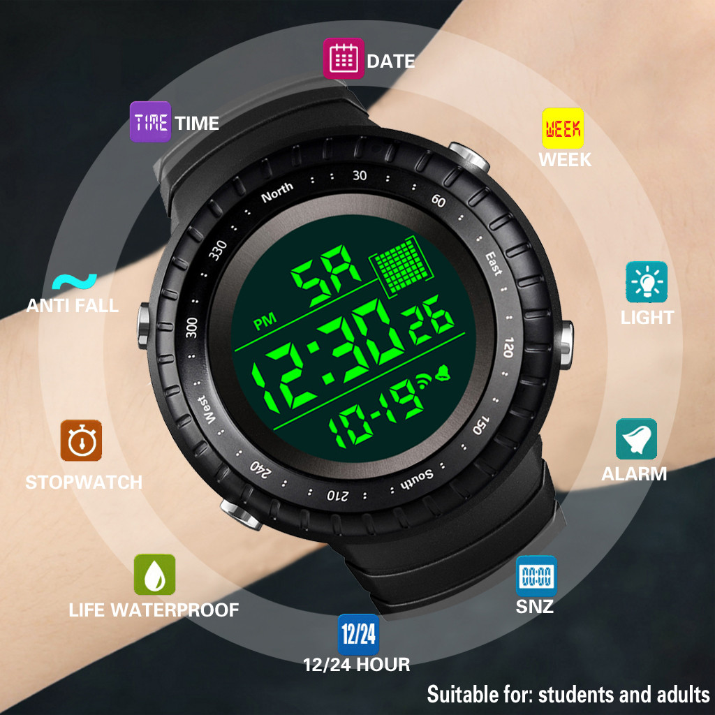 Electronic Watch Digital Sportowy Outdoor Men Reloj Date Zegarek Hombre Luxury