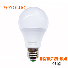 YOYOLUO LED Bulb E27 3W 6W 9W 12W Watt AC&DC 12V 24V 36V 12-85V Home Lighting LED Lamp Cold Warm White SMD 2835 LED Light Bulb