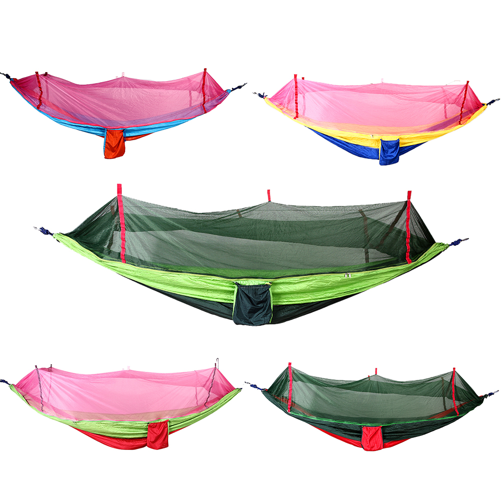 цена на Portable Hammock Single Person Anti-mosquito bites Hammock with Mosquito Net for Outdoor Camping E5M1
