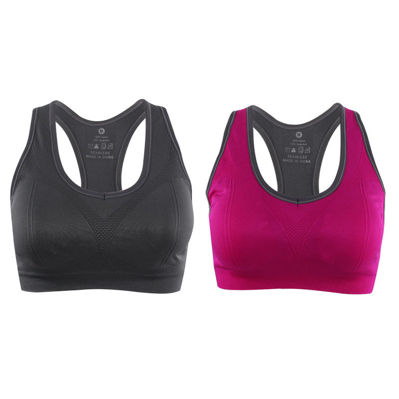 Freezing fishing-vests Yoga Bra Women Padded Sports Bra Shake Proof Running Bra Gym Bra Wire Free Push up Fitness Sport Top