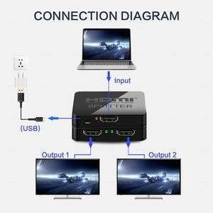 Image 5 - محول HDMI عالي الدقة 1080p للفيديو عالي الدقة HDCP 4K محول HDMI 1X2 سبليت 1 في 2 خارج مكبر للصوت شاشة مزدوجة لـ HDTV DVD PS3 Xbox