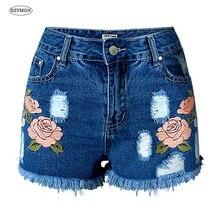 SZYMGS Шорты Отверстие джинсы женщина тощий шорты рваные джинсы для женщин vaqueros mujer жан джинсовые шорты pantalon жан femme