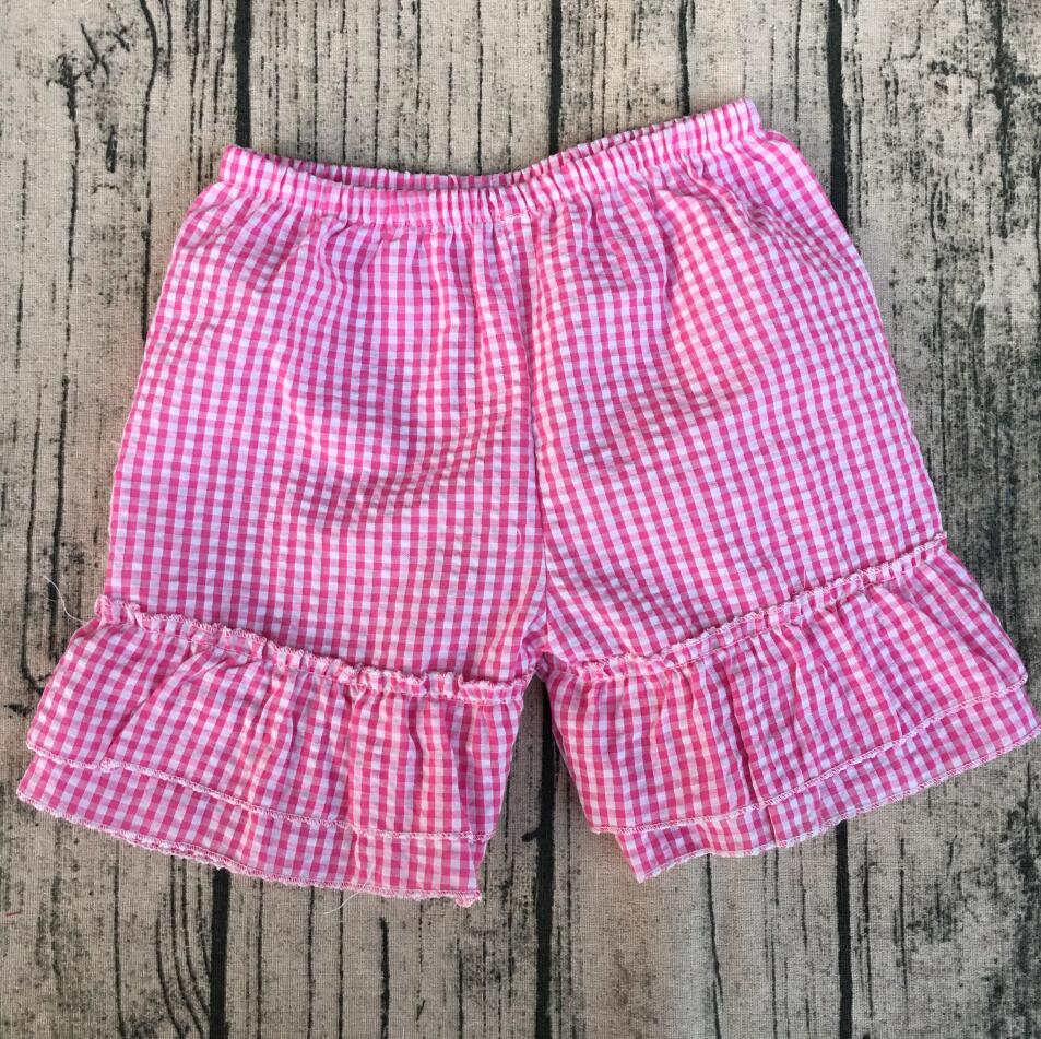 73dff797d07a Girls Toddler Boutique Clothes Baby Shorts Monogrammed Boutique Girls  mutiple colors seersuker girls ruffle shorts-in Shorts from Mother & Kids  on ...