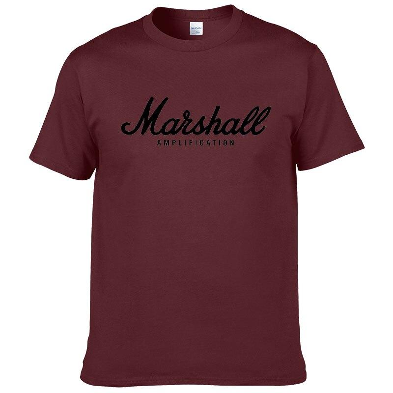 100% cotton Marshall T Shirt men short sleeves tee hip hop street wear for fans hipster 41
