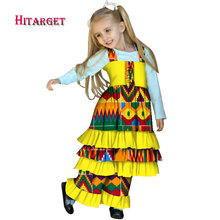 African children dress+pants dashiki Traditional print cotton traditional clothing for african Children 2 pieces  WYT331