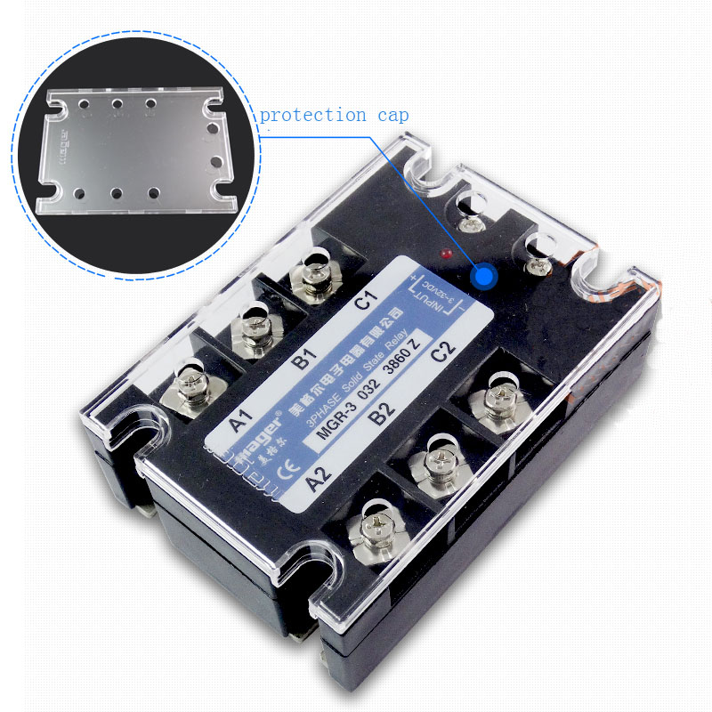 Free shipping 1pc High quality 60A Mager SSRMGR-3 032 3860Z DC-AC Three phase solid state relay DC control AC 60A mager three phase solid state relay dc control ac mrssr 3 mgr 3 032 3890z 90a