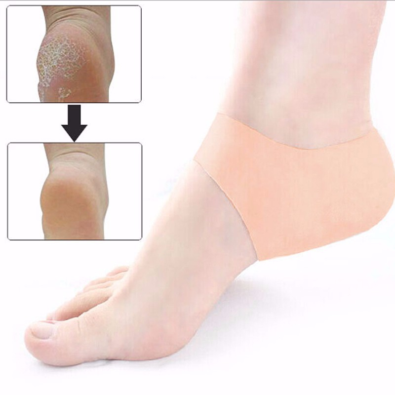 2pcs/pair Silicone Heel pad Moisturizing Gel Heel Liner Anti-slip Maintenance Cracked Foot Heel pad MR0070 крем scholl cracked heel cream