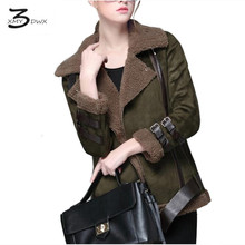 XMY3DWX Women's high-end brand winter new deerskin flocking lambs wool jackets/More women cashmere fashion coat