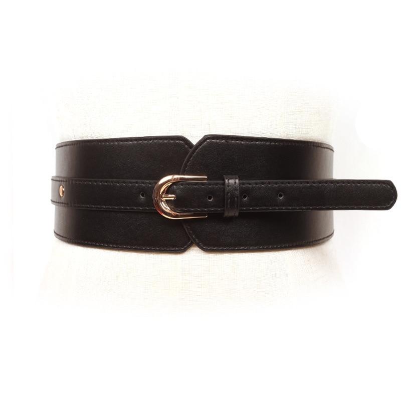 Allentato Banda Larga Cintura Casual Pannello Esterno Bottoni Decorativo Vita Personalizzato Elastico Cummerbunds Elastico In Vita Corsetto Cintura