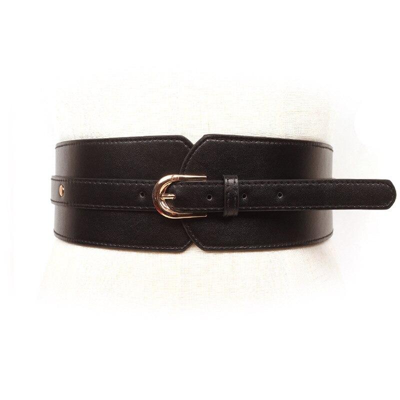 Loose Band Wide Belt Casual Skirt Buttons Decorative Waist Personalized Elastic Cummerbunds Elastic Waist Corset Belt