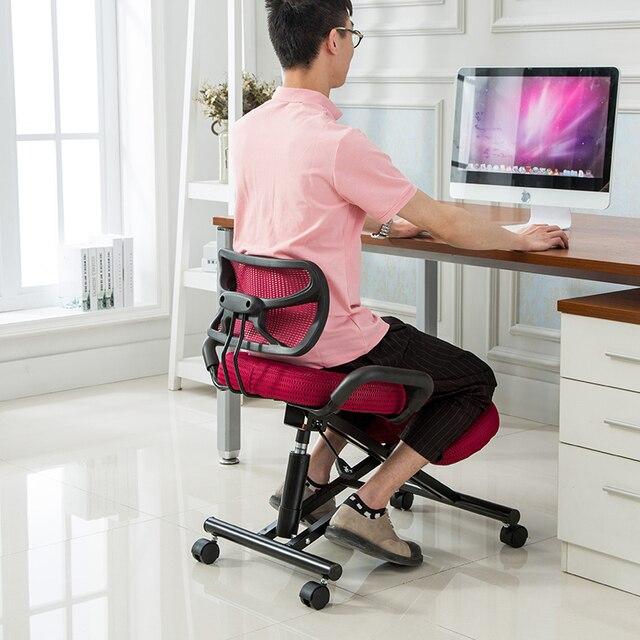 Correcci n de la postura correcta silla de oficina ergon mica rodillas ordenador estudiante - Sillas para estudiar ...