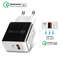 Quick Charge 3.0 18W USB travel Charger Adapter For iPhone X 7 6s for Samsung s9 s8 QC 2.0 Fast Huawei Xiaomi