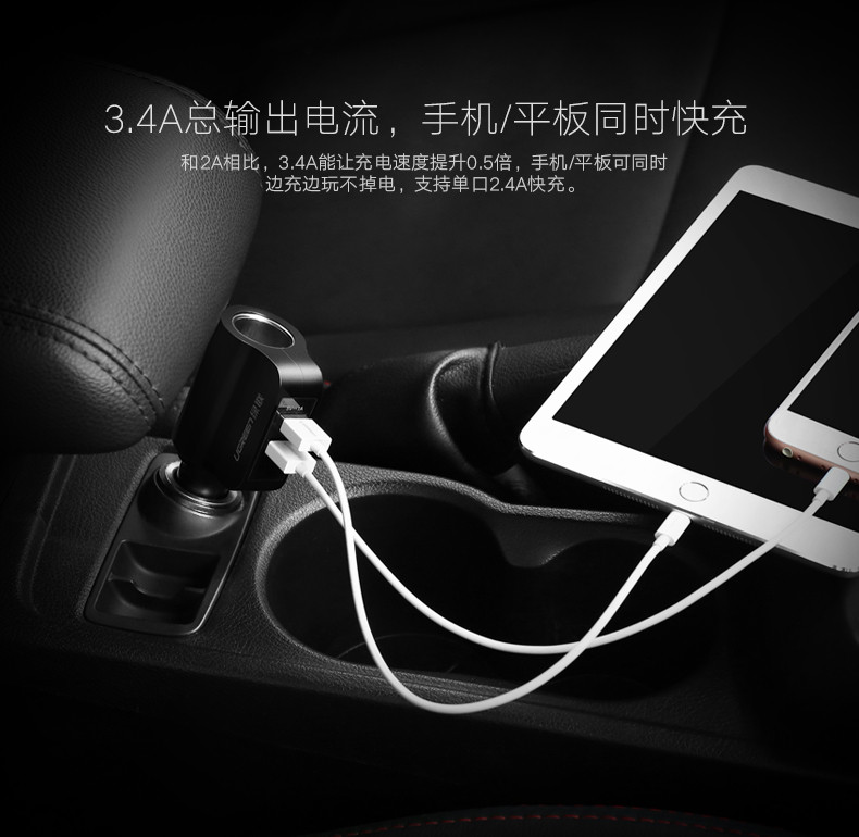 Ugreen fast charge Car phone Charger (2)