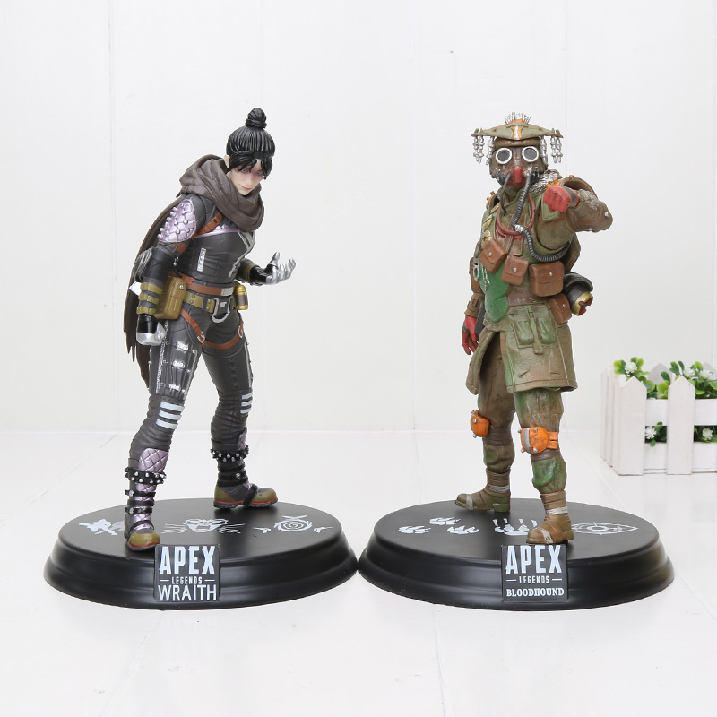 22cm Game <font><b>Apex</b></font> Legends Figure <font><b>Toys</b></font> Bloodhound Tracker Pathfinder Pathfinder Gibraltar Anime PVC Figure Model <font><b>Toy</b></font> image