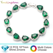 Yunkingdom inlay bracelets&bangles zircon  drop bracelets wedding plated gold water