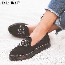 7e968ce413a Lala ikai espadrille mujeres plataforma plana Zapatos con rhinestone de  lujo marca mujer calzado pisos mocasines