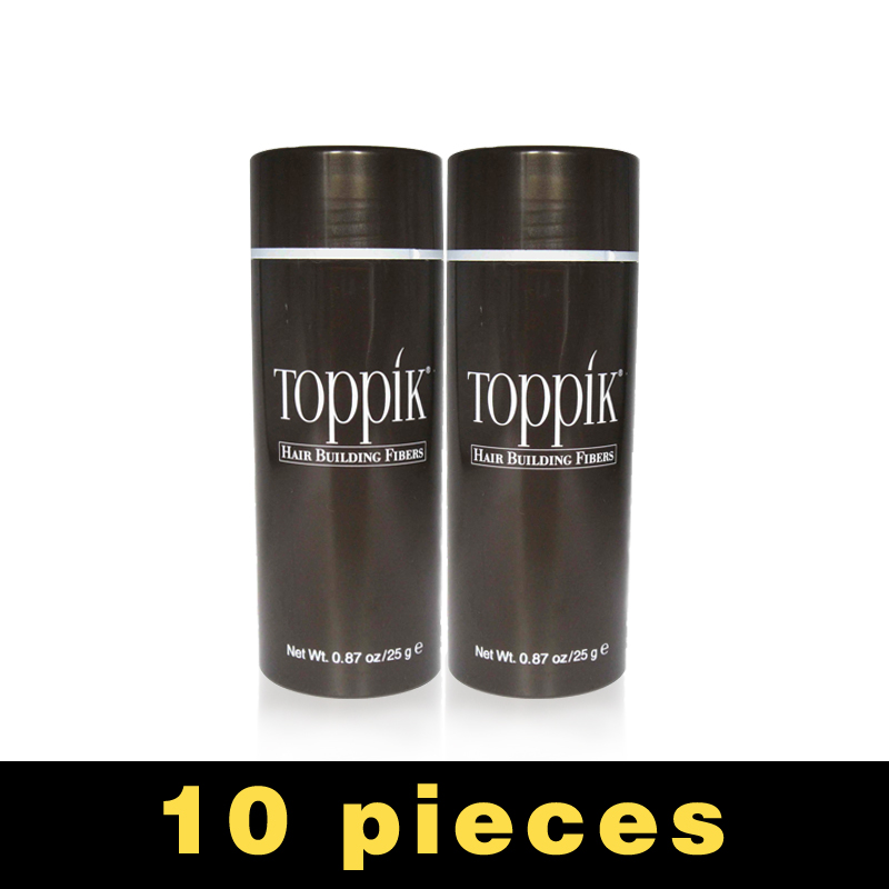 10pcs/lot 25g Toppik Hair Fibers Building Fiber Loss regrow Styling Color Powder Extension Keratin Thinning Spray Applicator toppik 27 5g best hair building fibers for hair loss treatment 10pcs lot